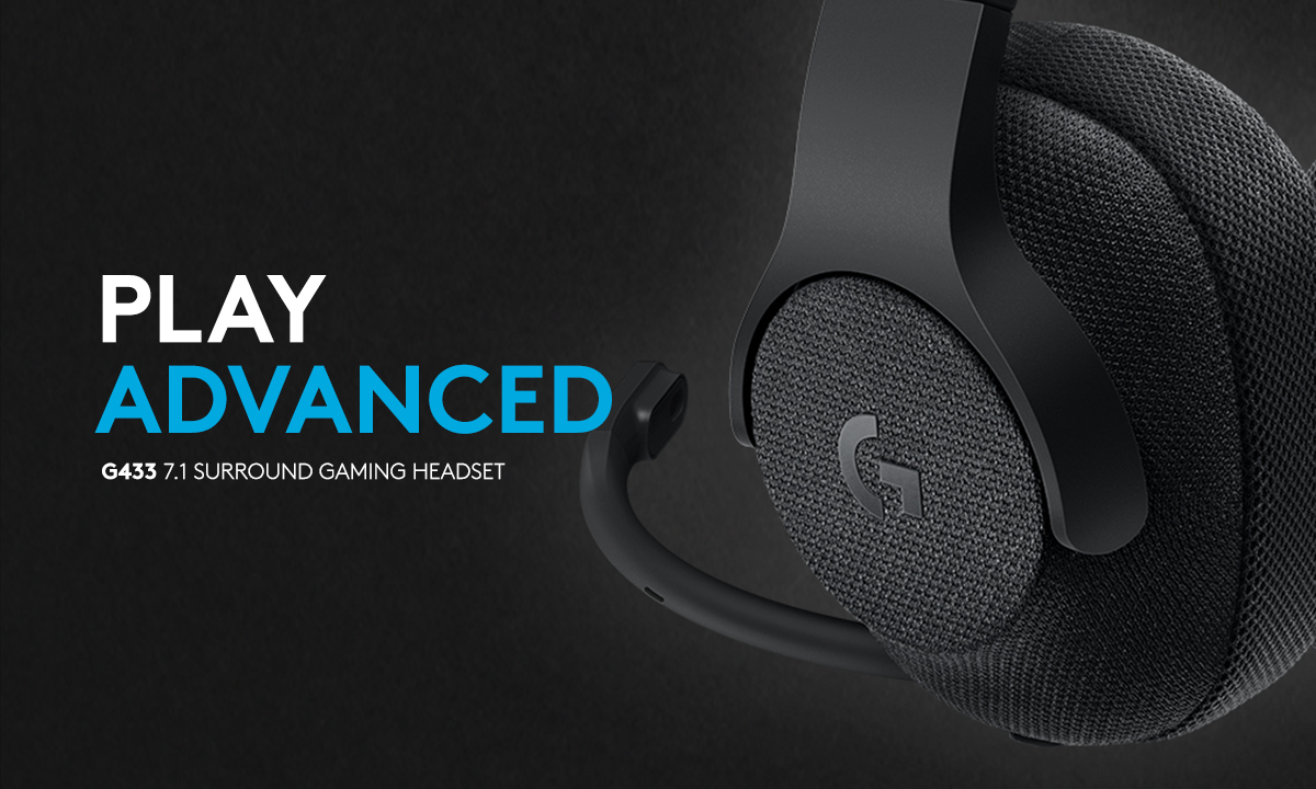 PLAY ADVANCED. Logitech G433 7.1 Wired Surround Gaming Headset