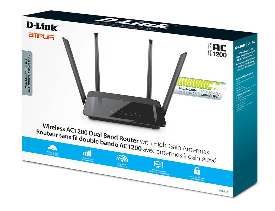 D-Link Wireless AC1200 Dual Band Router DIR-822 | Canada Computers