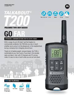 View Talkabout T200 Data Sheet PDF