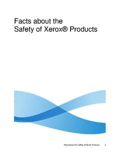 View Facts about the Safety of Xerox Products PDF