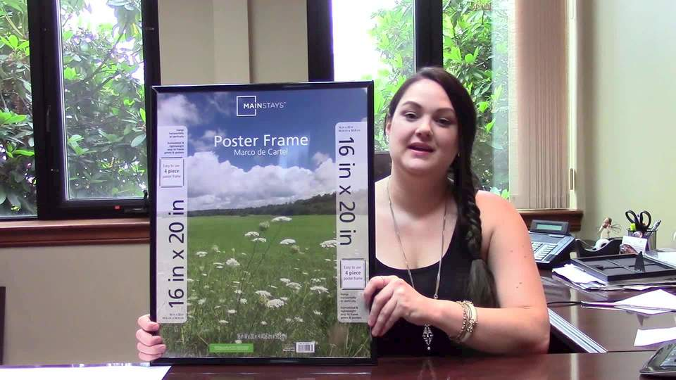 mainstays 16x20 basic poster picture frame black set of 2 walmartcom