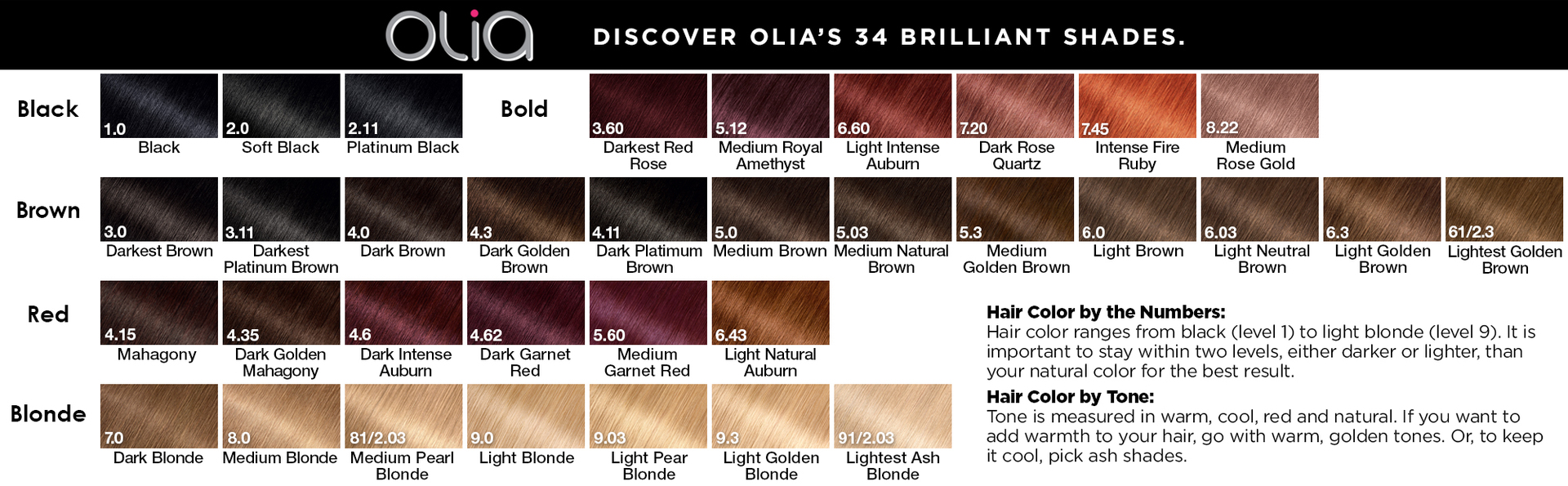 Olia Oil Ed Permanent Hair Color
