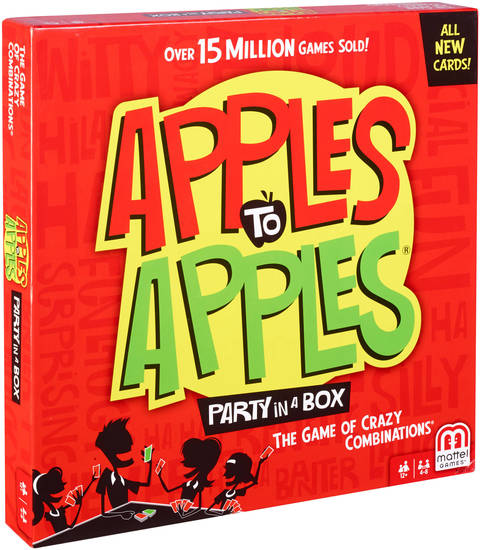 Apples to apples® party box | bgg15 | mattel shop.