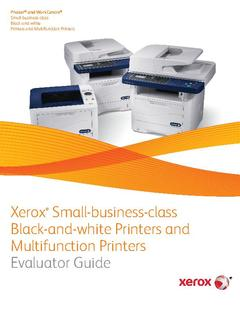 View Evaluator Guide - Phaser 3610 PDF