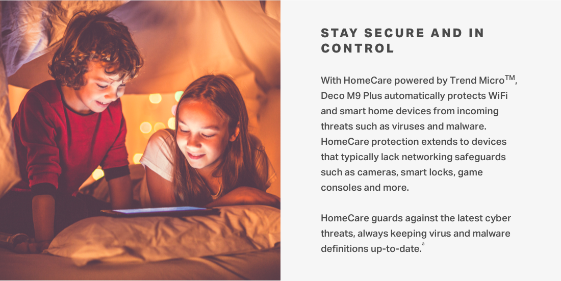 Protect devices from incoming threats such as virus and malware with HomeCare