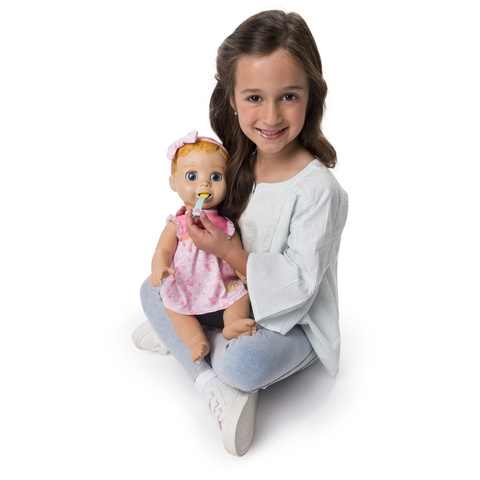 d73724e6d2a Luvabella Blonde Hair, Responsive Baby Doll with Real Expressions ...