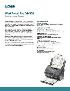WorkForce Pro GT-S50 Information Sheet