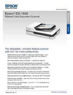 Epson DS-1630 - document scanner - desktop - USB 3 0 | Dell