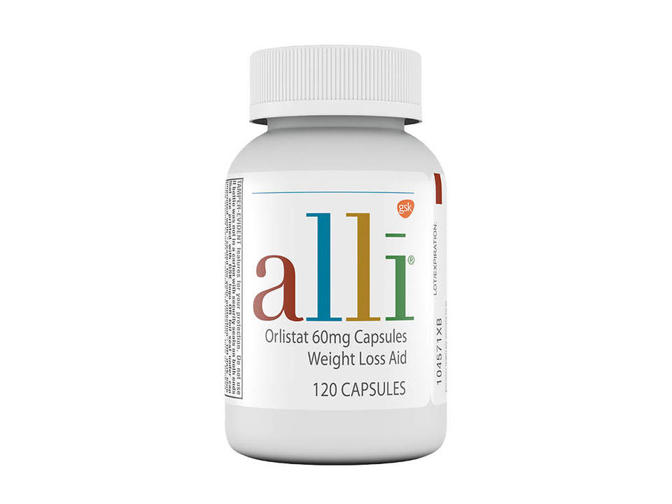 Alli Diet Weight Loss Supplement Pills Orlistat 60mg Capsules 120 Ct