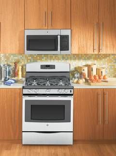JVM6175SFSS over-the-range microwave oven featured in Stainless Steel.