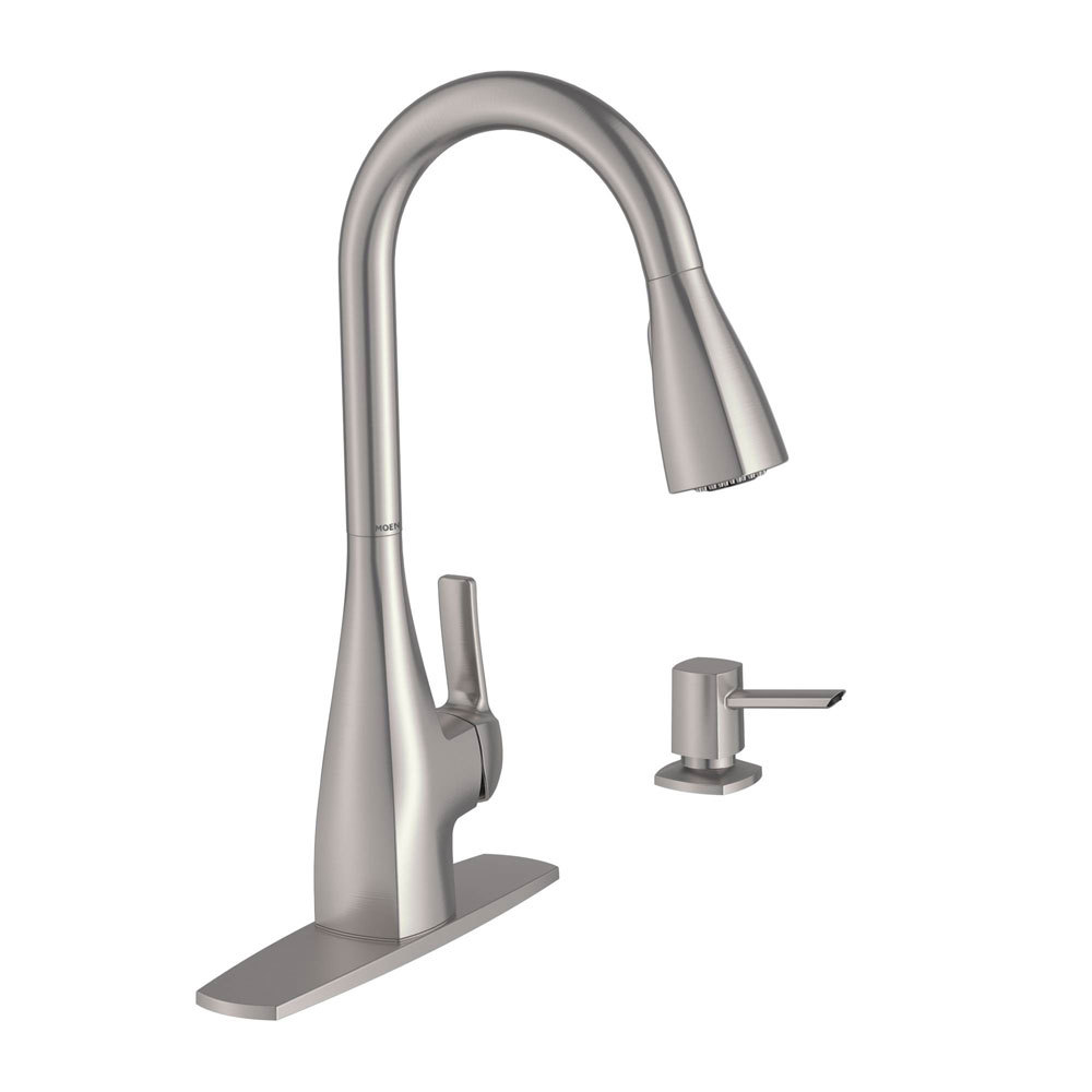 Moen kiran one handle pulldown kitchen faucet