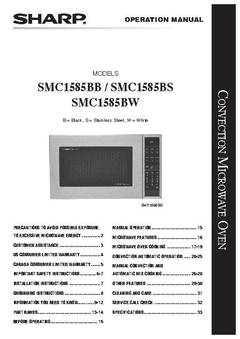 View SMC1585BW Owner's Manual PDF
