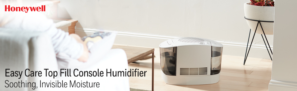 Honeywell HEV685W Top Fill Cool Moisture Humidifier, White