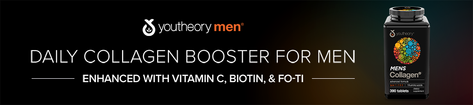 Daily collagen booster for men - enhanced with vitamin C, biotin & fo-ti