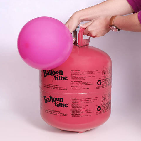 Balloon Time 12in Jumbo Helium Tank Includes Ribbon Walmartcom