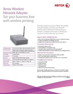 View Xerox Wireless Network Adapter Brochure PDF