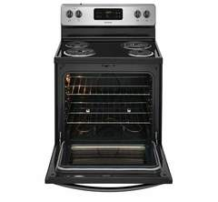Frigidaire Electric Freestanding Range: FFEF3016TM, Door open, Empty