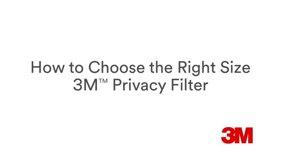 Find the right privacy filter for your screen