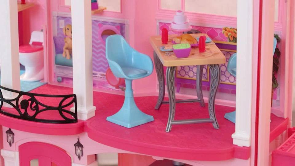 Elegant Barbie DreamHouse Playset With 70+ Accessory Pieces   Walmart.com