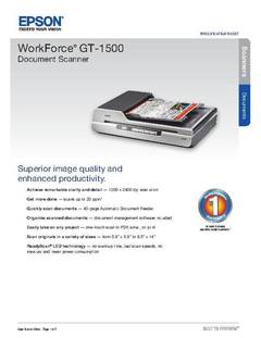 View WorkForce GT-1500 Information Sheet PDF