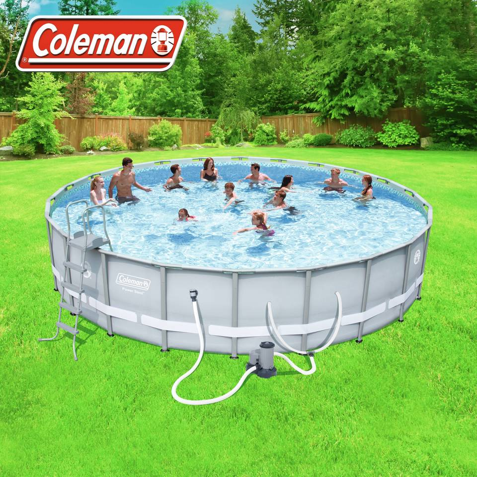 coleman 22 x 52 power steel frame pool set