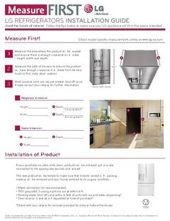 Measure First Refrigerator Installation Guide - opens PDF