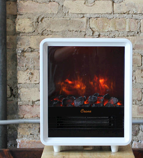 Crane Fireplace Heater - White - Walmart.com