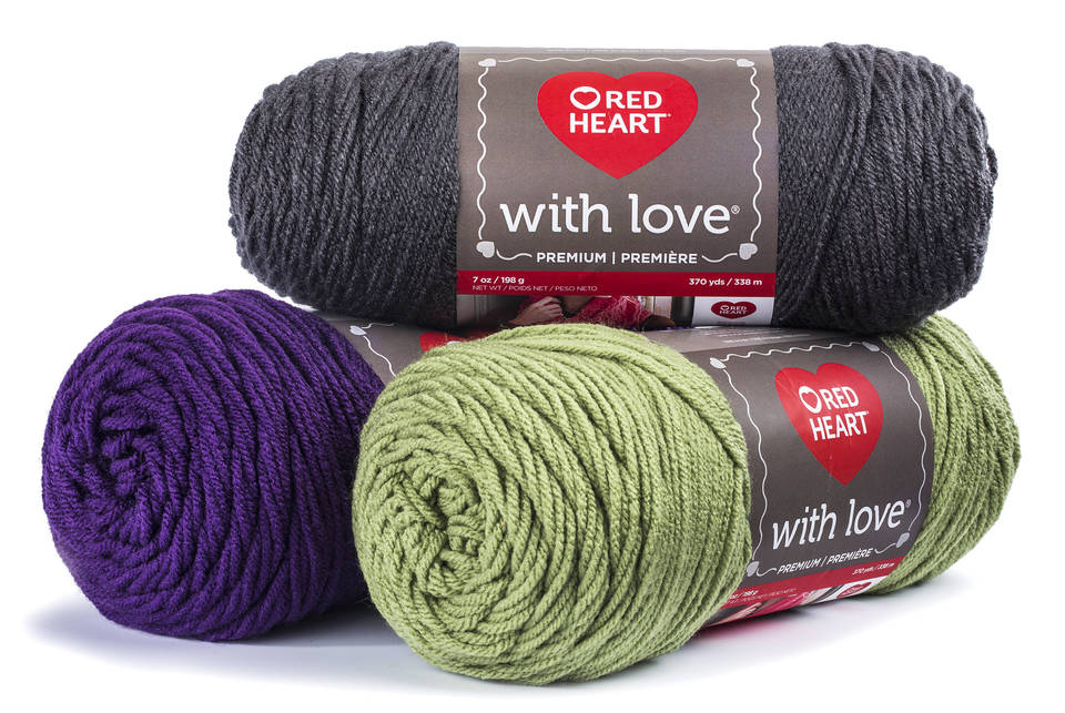 Red Heart Super Saver Ombre True Blue Yarn, 482 Yd