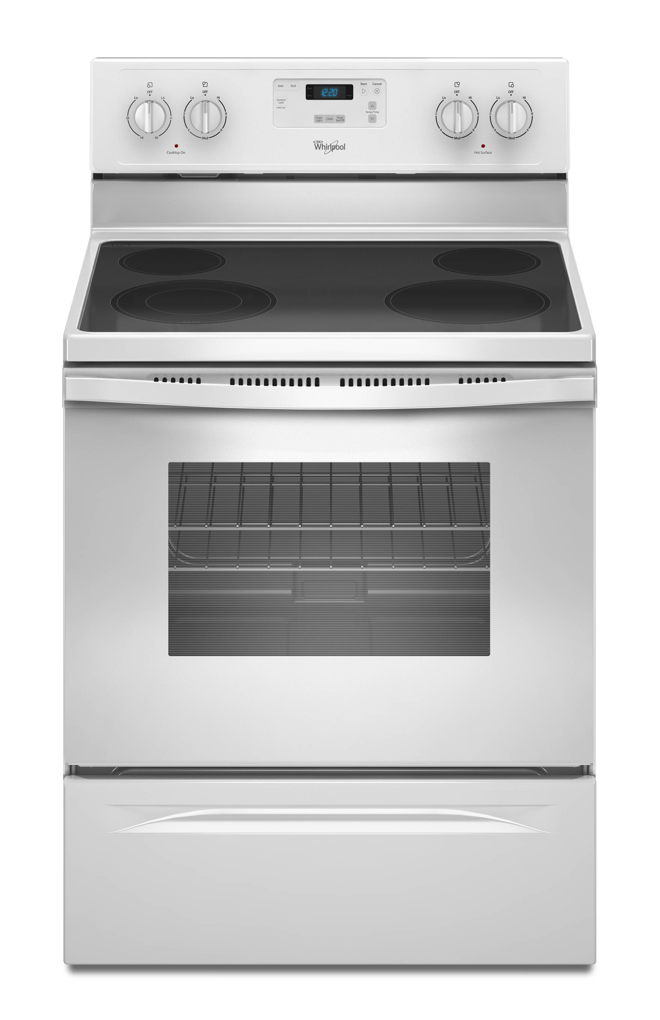 white electric range. Whirlpool Smooth Surface 4.8-cu Ft Freestanding Electric Range (White)  (Common: White Electric Range E