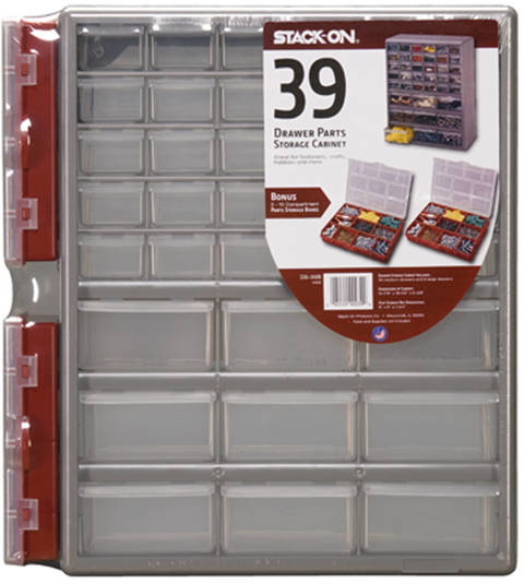 Stack-On DSR-39B 39-Drawer Storage Cabinet with 2-10 Compartment ...
