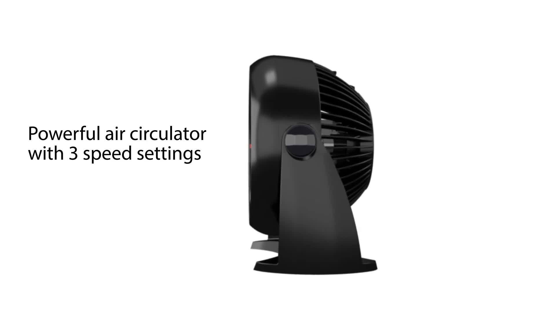 Honeywell Table Air Circulator Fan, HT 900, Black