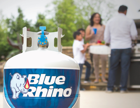 Blue Rhino Propane Exchange Tank White