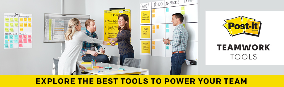 Post-it® Brand Teamwork Tools, Explore the best tools to power your team