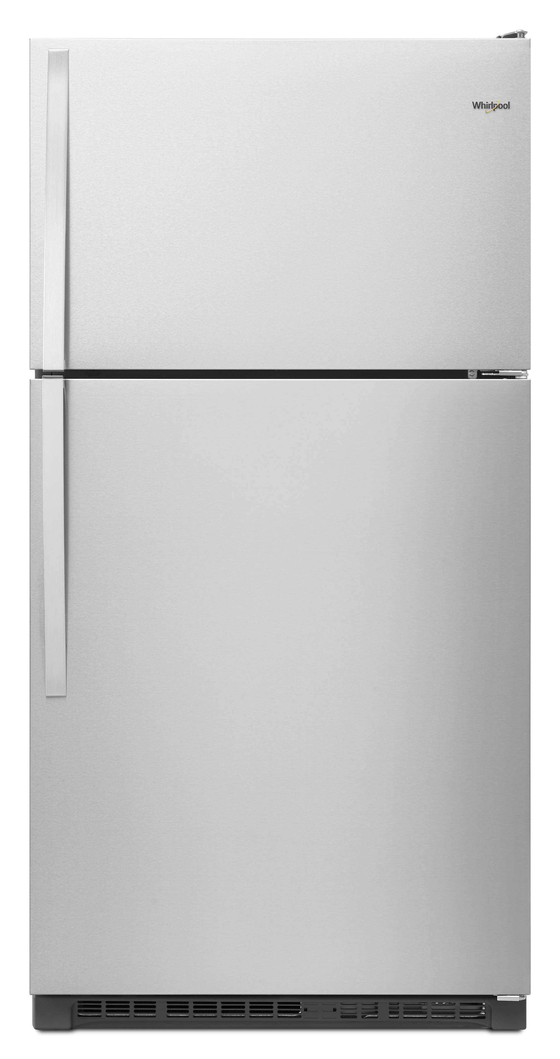 Whirlpool 20 5 Cu Ft Top Freezer Refrigerator Monochromatic Stainless Steel