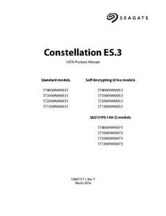 View Constellation ES.3 SATA Product Manual PDF