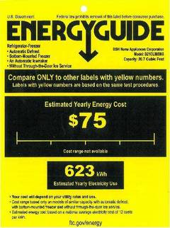 View B21CL80SNS - Energy Guide PDF