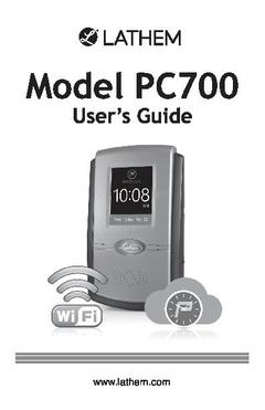 View PC700 User's Guide PDF