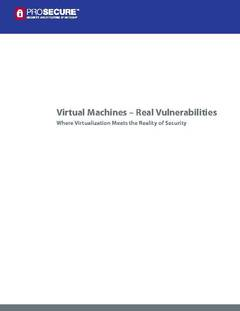 Virtualization - Just Because the Machine is Virtual Doesn't Mean the Threat Isn't Real