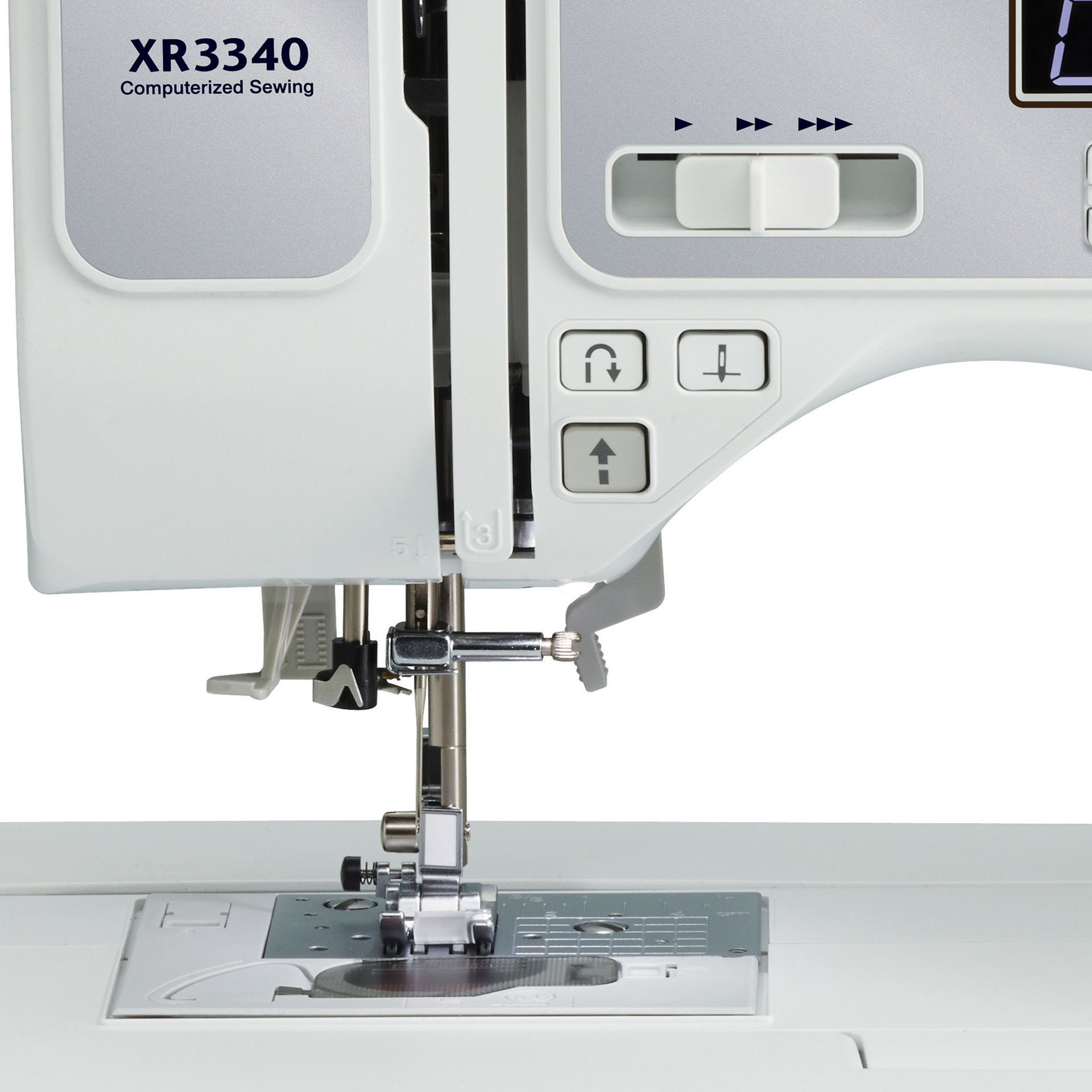 Brother Xr3340 Computerized Sewing And Quilting Machine Thread A Diagram Labeled Variable Speed Controls Start Stop Button Get Extra Control When