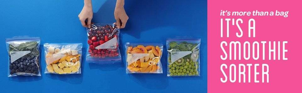 Ziploc - It's more than a bag, It's a Smoothie Sorter Banner