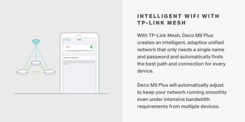 TP-Link Deco M9 Plus Tri-Band Wi-Fi System with Built-In