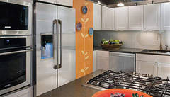 Kips Bay Kitchen Featuring Counter-Depth Refrigerator with IQ-Touch® Controls
