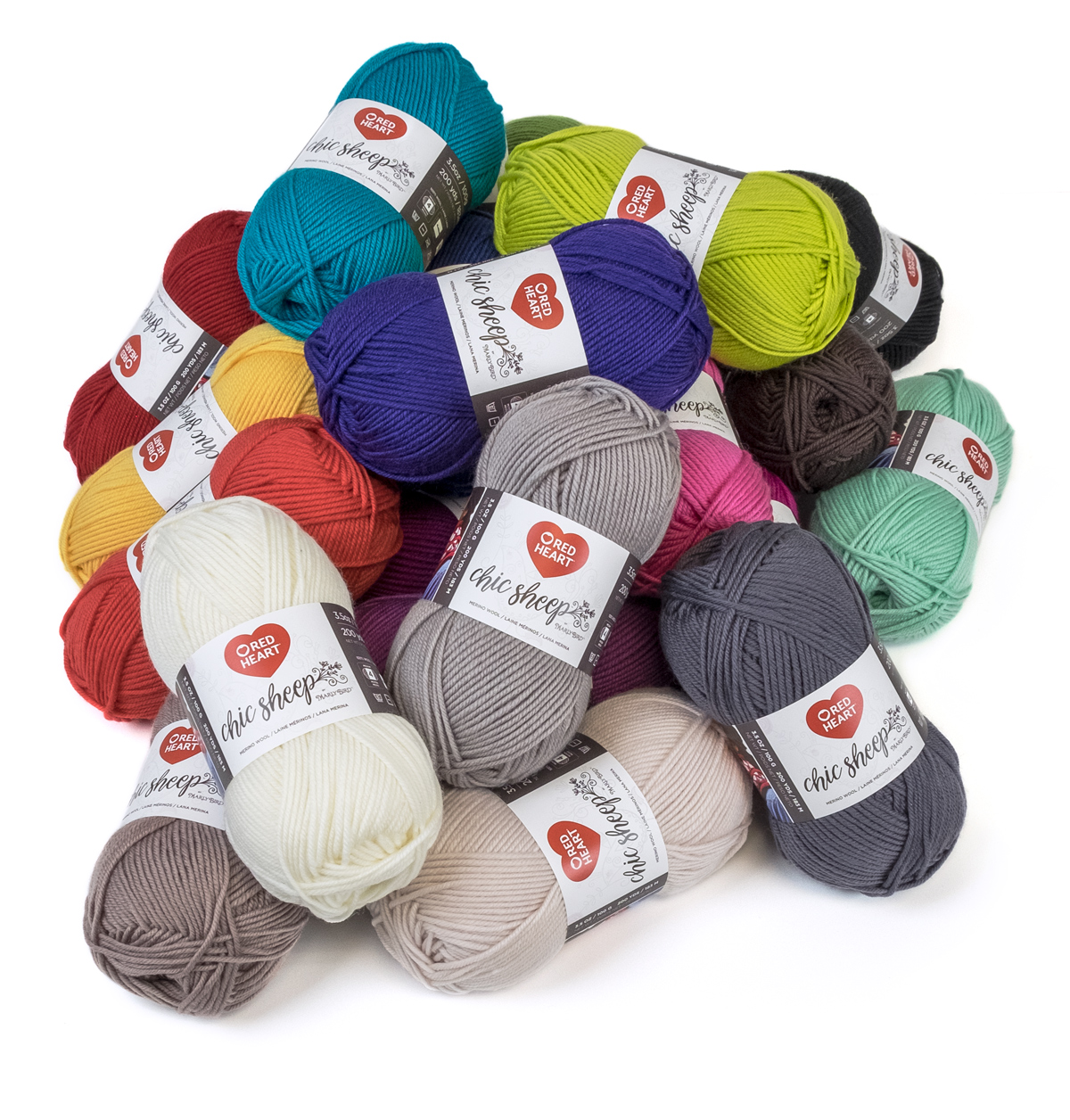 Red Heart Chic Sheep Yarn-Linen 3 Pack