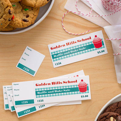 School And Community Events  Food Tickets Template