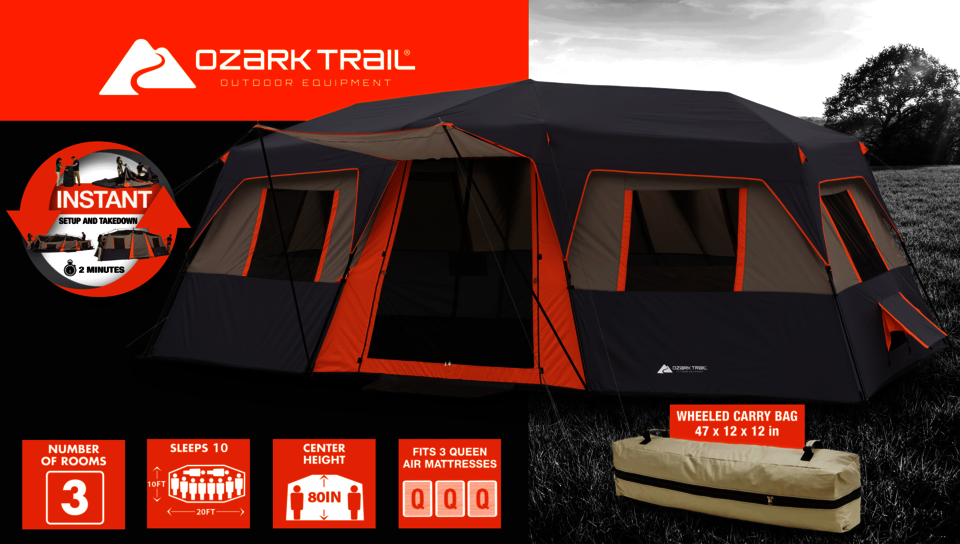 Technical Specification : ozark trail 12 person cabin tent - memphite.com