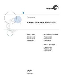 Constellation ES SAS Product Manual - opens PDF