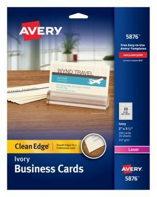 avery clean edge business card ld products