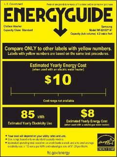Energy Consumption Guide Label - opens PDF