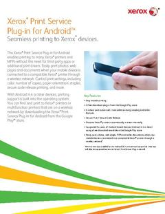View Xerox® Print Service Plug-in for Android™ PDF