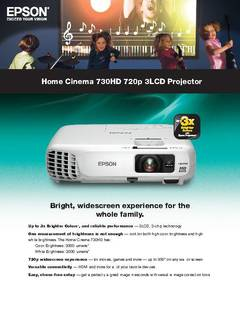 View Home Cinema 730HD Product Specifications PDF